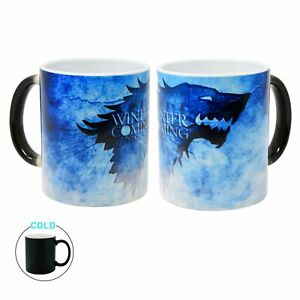 Game of Thrones Winter Is Coming Stark Frozen Emblem Colour Changing Coffee Mug