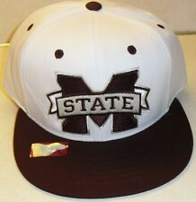 Mississippi State Bulldogs University White Snapback hat New Ncaa College