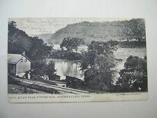 OLD POSTCARD OHIO RIVER NEAR PITTSBURGH 1908