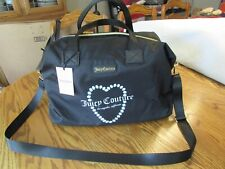 """JUICY COUTURE BLACK """"OOPS A DAISY"""" WEEKENDER BAG NWT"""