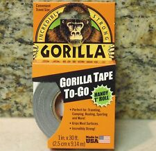 "1"" x 30 Foot Roll - GORILLA TAPE Black Duct Tape - For the Toughest Jobs"