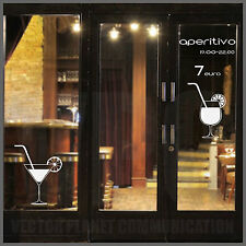wall stickers adesivo happy hour aperitivo milano menù kitchen vetri muri bar