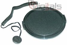 67mm Snap-on Front Lens Cap Dust Glass Cover + Keeper Holder Retainer String