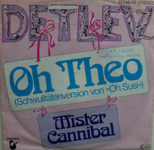 "7"" 70s CV FRANK ZANDER RARE ! DETLEV : Oh Theo /MINT-?"