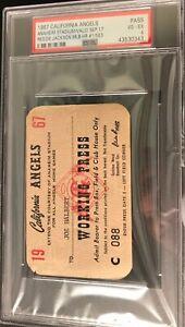 1967 PSA Ticket Pass Reggie Jackson  First HR #563 Life /Angels/New York Yankees
