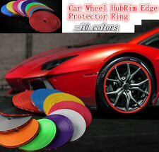 Car Wheel Hub Rim Edge Protector Ring Tire Guard Sticker Line Rubber Strip nueva