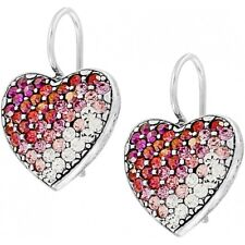 NWT Brighton GLISSANDO Pink Crystals Silver Earrings MSRP $68