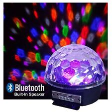 LED Disco Light - Bluetooth, USB, Internal Speakers - Play music & Watch Lights