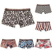 Mens' Soft Comfortable Boxer Trunks Underwear Pants Breathable Lingerie Shorts