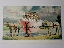 K593 - Muliple Babies In an EASTER EGG - FRENCH BABY POSTCARD