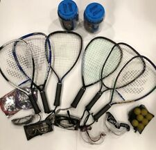 Racquetball Lot 6 Racquets With New Grips And balls goggles String And A Bag