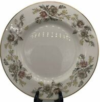 Belcrest Fine China USA Autumn Pattern Gold Rimmed Dinner Plates Trim Set Of 4