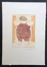 Kurt Mühlenhaupt, Guten Morgen liebe Monika, Farbradierung, 1984, handsigniert