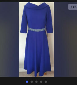 Blue Veni Infantino Mother Of The Bride/races Outfit Size:18