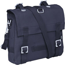 Brandit Tattico Canvas Bag Piccola Spalla Marine Pack Polizia Cadet Satchel Navy