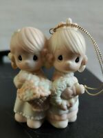 1988 Precious Moments Figurine ornament To My Forever Friend 113956 twin sisters