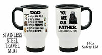 Personalised STAR WARS Travel Thermal Mug Dad Daddy Grandad Fathers Day Gift