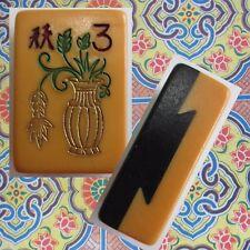One, Black Dovetail Catalin Mahjong Tiles Mah Jongg Orphans Replacements Joker