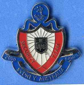 SYDNEY 2000 OLYMPIC GAMES AUSTRALIA - UPS TEAM SECURITY PIN MEDIUM SIZE - SILVER