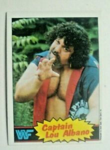 1985 TOPPS WWF WRESTLING CARD #3 CAPTAIN LOU ALBANO-MINT!  low priced shipping