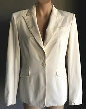 NWT CUE Ivory Single Breasted Tailored/Fitted Long Sleeve Jacket Size 12