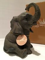 Sitting Baby Elephant Ornament Figurine Figure Gift Present