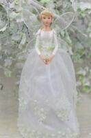 GISELA GRAHAM CHRISTMAS WHITE SNOWDROP FAIRY ANGEL TREE TOPPER SMALL