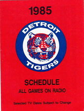 Detroit Tigers Vintage Baseball Schedules