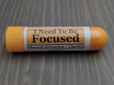 I NEED TO BE FOCUSED Essential Oil Personal AROMATHERAPY Inhaler: ADD/ADHD Blend