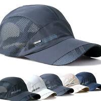 Women Mens Sport Baseball Mesh Hat Running Visor Quick-drying Cap Summer Outdoor