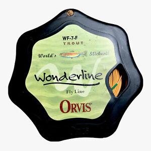 NEW Orvis  Trout Wonderline Flyline WF-7-F Yellow Worlds Slickest Fly Line NEW
