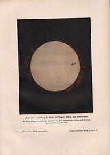 1903 ASTRONOMY GERMAN PRINT ~ SCHEMATIC REPRESENTATION OF THE SUN SOLAR FLARES