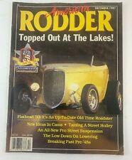 American Rodder Magazine December 1987 Dec 87 Automobile English