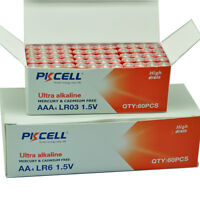 50 AA+ 50 AAA Alkaline Batteries 1.5V Industrial Battery (LR6,LR03) PKCELL NEW