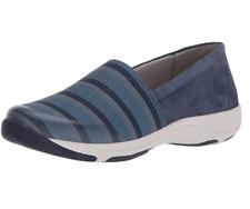 Dansko Women's Harriet Flat shoes size EU 37 US6.5-7 Blue Stretch Suede