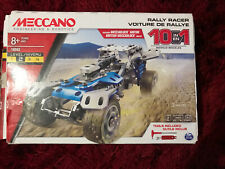Meccano Car Model Gift Set 18203 Rally Racer 10 in 1 Motorized Vehicle Motor 8+