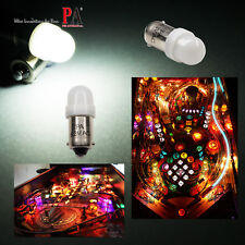 PA 10x #1893 #44 #47 #1847 BA9S 2 SMD LED Pinball Machine Light Bulb White 6.3V