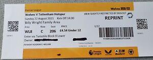 2021/2022 - Wolverhampton Wanderers v Tottenham Hotspur Ticket