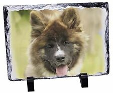 More details for beautiful akita dog photo slate christmas gift ornament, ad-a4sl