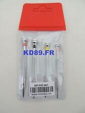 HOROTEC 01.003 ASSORTMENT OF 4 CLASSIC PRECISION SCREWDRIVERS 0.60 to 1.20 mm