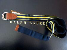Polo RALPH LAUREN Belt Men's Size Medium Rugby Stripe Rebb Reversible Belt