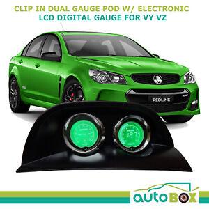 VY VZ Commodore Gauge Pod Holder + LCD Volts + Oil Pressure Gauge Holden