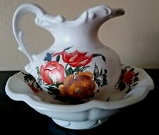 Vintage McCoy Pitcher and Bowl Set~Beautiful Floral Pattern~Excellent Condition!