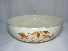"Vintage Hall Superior China Autumn Leaf Jewel T 2 Qt Salad Fruit Round 9"" Bowl"