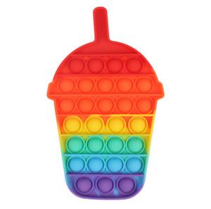 Push Pop Bubble Sensory Stress Relief Fidget Kids Game it Silicone Toy Autism /2