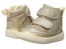 Bebé Niñas Genuino Botas Ugg Australia-Pritchard Destellos De Oro Talla 2/3 Nuevos Y En Caja