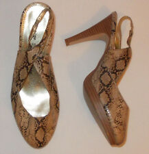 "Ladies LOVE YOUR SHOES slingback snakeskin print 4"" heel  Shoes UK6"