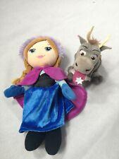Kids FROZEN Soft Toy Plush Pair Bundle Anna Sven DISNEY