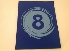 """Neoprene Sewing Patch Number 8 Swirl Royal Blue Rectangle 8"""" x 6"""" Soft"""