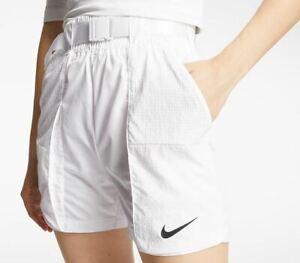 Nike Women's NSW SWOOSH WOVEN SHORTS White  DD2095  100 Size M
